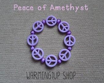 Peace Beads Bracelet (Amethyst)