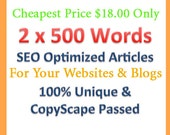 SEO Article Writing For Websites and Blogs - Unique & Original Content For Increasing Your Website Traffic And Sales.Cheapest Price in ETSY