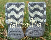 Crochet Pattern Toddler Instant Download Chevron Boots  #18