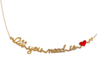 Necklace sentence All you need is love