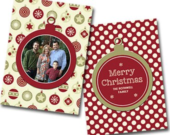 "Merry Dot  Photo Christmas Card -  5"" X 7"" Digital File"