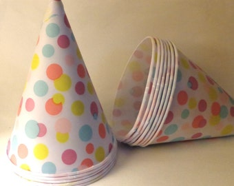 Snow Cone Paper Cups polka dots Party Snack cup Buffet supplies dessert snack Cup Birthday Party