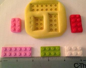 Silicone lego molds