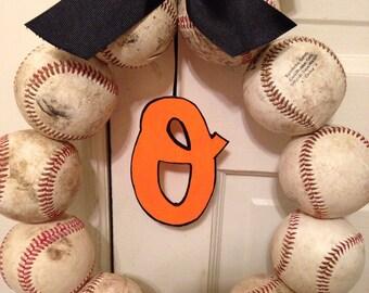 Baltimore Orioles Baseball Wreath