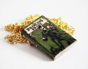 The Princess Bride's mini book necklace