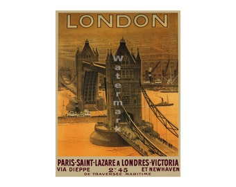 London #2 - Vintage Travel Poster