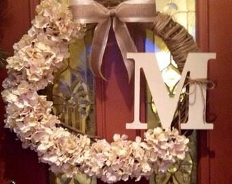 Monogram welcome wreath