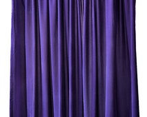 Purple Velvet 72 inch High Curtain Long Panel Custom Quality Home or Hotel Hall Venue Room Divider Wall Partition Backdrop Door Cover Drapes