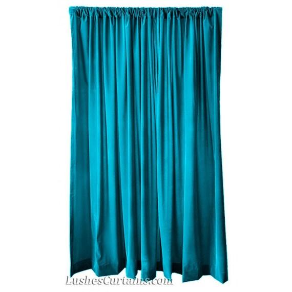 Elegant Turquoise Velvet 96 Inch Curtain Long Panel Drape