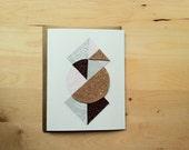 Geometric Circle Blank Card