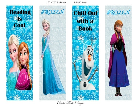 Frozen Coloring Bookmarks Book Marks Diy Printable Party Favors