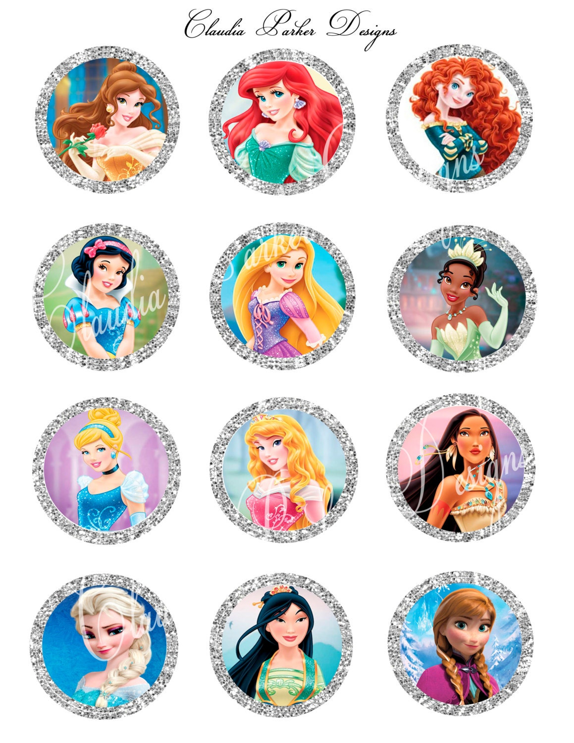 It's just a graphic of Gorgeous Disney Princess Cupcake Toppers Free Printable