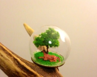 ONE OF A KIND !!! Miniature Ring daydreaming under the tree