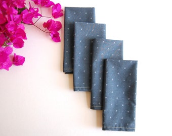 Handmade cotton napkins in gray day (set of 4)