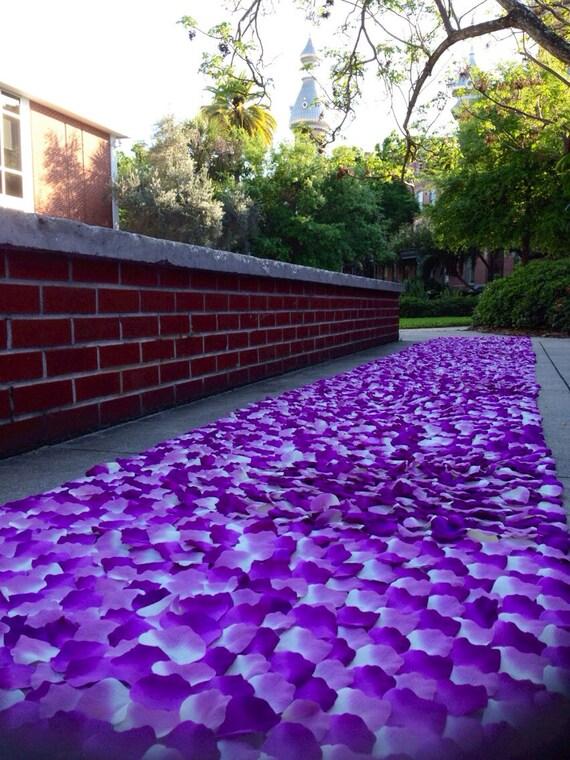 Wild Orchid Violet Lavender Rose Petal Aisle Runner