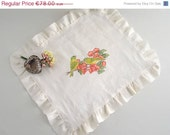 ON SALE Art Painted Placemat - Painted bird Placemat, ready to ship