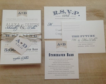 Vintage Twine Wedding Invitation Suite // Purchase this Listing to Get Started