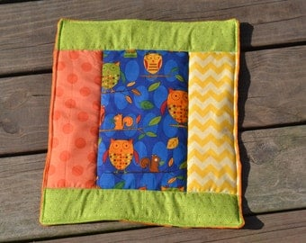 Mini Baby Owl Quilt Lovey or Wall Decor