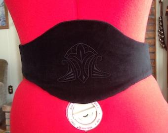 1800's Velvet EmbroideredMedici Victorian Belt