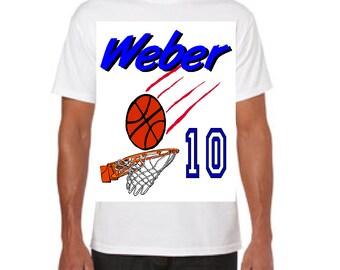 Basketball Theme Tee Shirt