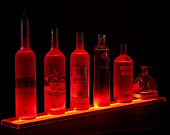 "45"" led lighted bar shelves, LED Liquor Bottle Display Shelving 3'9"" , bar shelf"