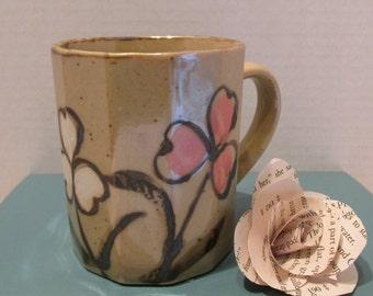 Little Flowers Octagon Stoneware Mug