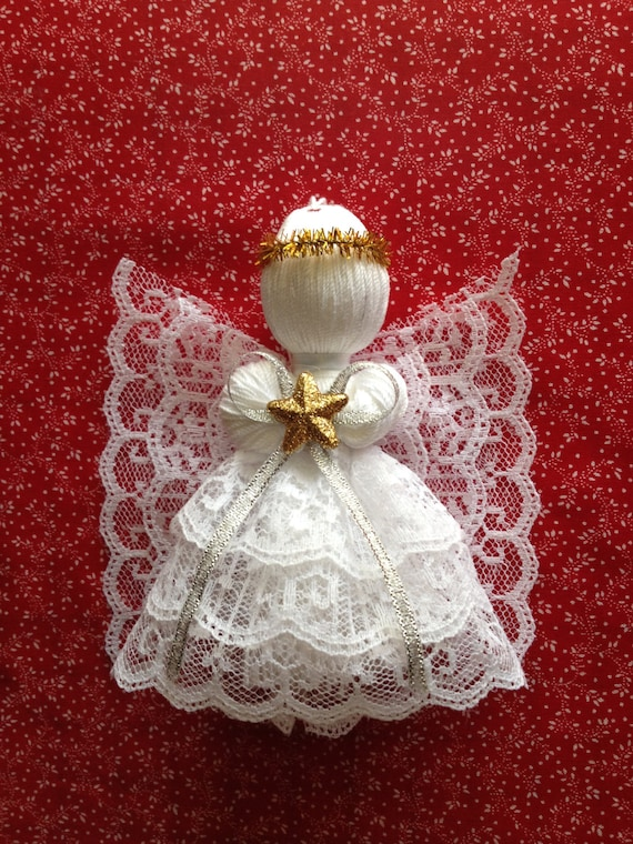 Items similar to Lace Angel Ornament on Etsy