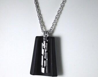 Vintage Lanvin-Like Black Pendant