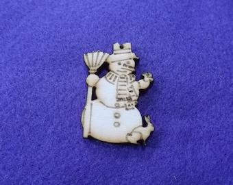 100 Snowman, wood, 4x3 cm (14-0009A100)