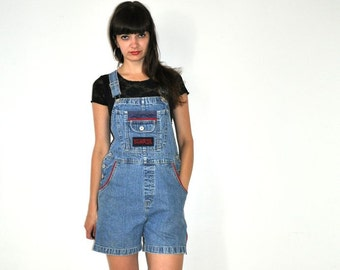 Vintage 90's  Denim Overalls Shorts