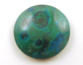 20% off!  Chrysocolla Grooved Cabochon