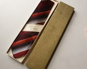Boxed 1950s Mens Tie - Vintage 50s Striped Necktie - Mens Gift