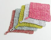 Wash Cloths Set, Cotton Wash Cloths, Spa Wash Cloths, Crochet Wash Cloths, Christmas Gifts for Mom, Linen Wash Cloth, Bath Set, Colorful