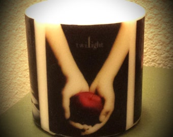 Twilight Book Cover Candle