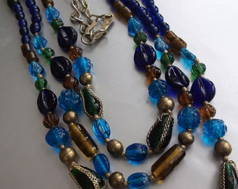 Dream Walker Colorful Glass Bead Necklace