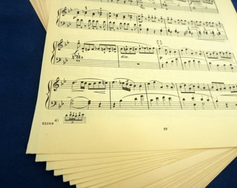 Vintage Sheet Music Pages – 25 pages
