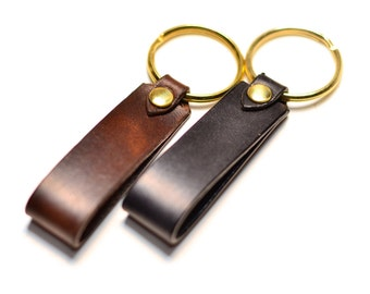 Custom leather key fob, Personalized Gift