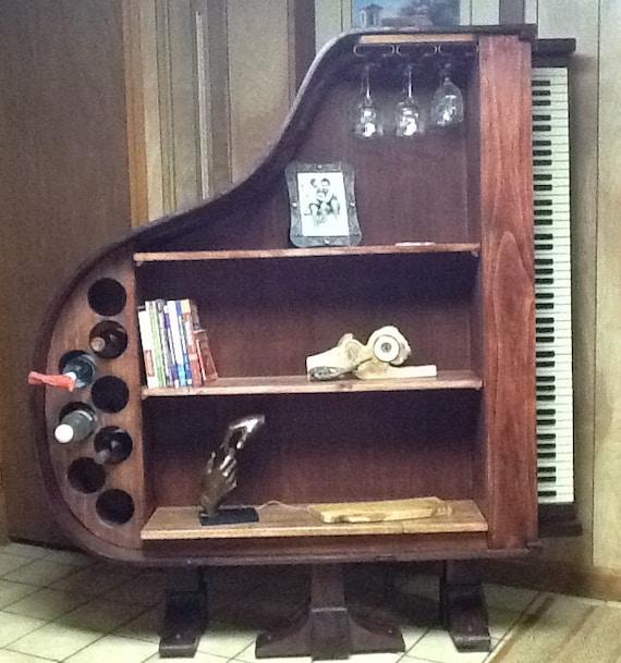 Repurpose Bookcase: Items Similar To Repurposed 1930's Baby Grand Piano