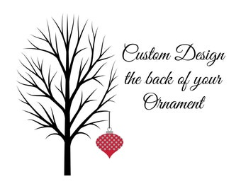 Customize the back of any Ornament