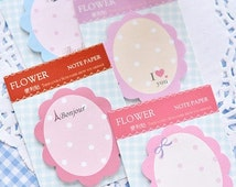 Cute flower sticky notes,memo pads,memo note for DIY scrapbook decoration,bookmark,label,paper working,wedding party deco-Pattern Random