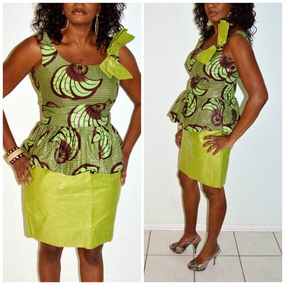 African Dress Ankara Dress Green Dress Traditional African