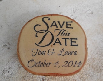 100  Custom  Save the Date Birch Magnets