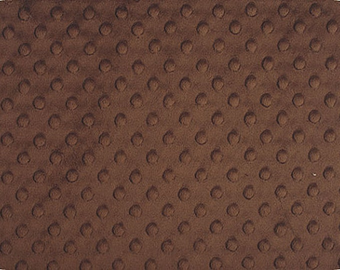 BROWN MINKY DOT / Cuddle Dimple Fabric by the Yard