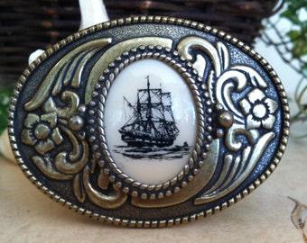 Clipper Ship Belt Buckle