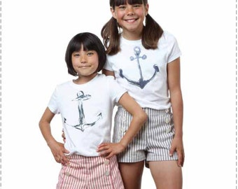 Pixie Faire Bonjour Teaspoon Isabelle Pintuck Short Sewing Pattern for Girls - PDF