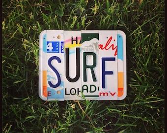 SURF License Plate Sign. Surfer Sign. Gift for Surfer. Surf Decor. Surf Sign.