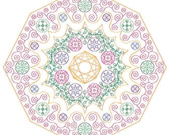 Jewel Mandala - embroidery pattern