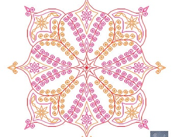 Clash - embroidery pattern