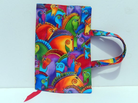 Fabric Paperback Book Covers With Handles : Paperback fabric book cover with handles
