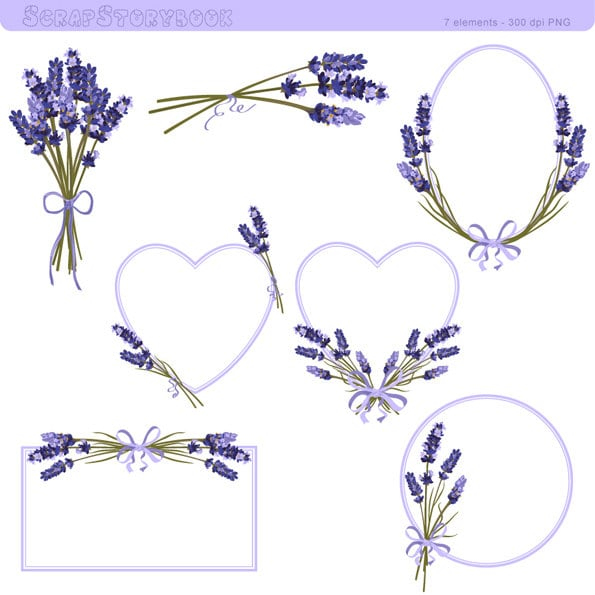 lavender clip art  etsy, Beautiful flower